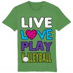 Fresh green - Live love play volleyball - Creator Unisex T-shirt