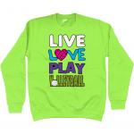 Lime green - Live love play volleyball - AWDis Kids Sweatshirt