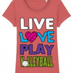 Mid heather red - Live love play volleyball - Stella Lover
