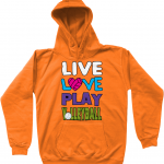 Orange crush - Live love play volleyball - AWDis Kids Hoodie