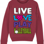 Red - Live love play volleyball - Stella Tripster