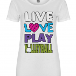 White - Live love play volleyball - FS09 Women's T-shirt