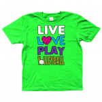 Irish green - Live love play volleyball - Gildan Kids SoftStyle® Ringspun T-Shirt