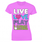 Azalea - Live love play volleyball - Gildan Ladies Premium Cotton T-Shirt