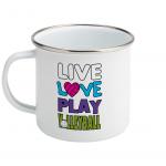 Live love play volleyball - Enamel Mug