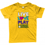 Sunflower - Live love play volleyball - Larkwood Baby/Toddler T-Shirt