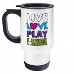 Live love play volleyball - Travel Mug left