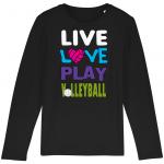 Black - Live love play volleyball - Mini Hopper