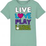 Mid heather green - Live love play volleyball - Mini Creator