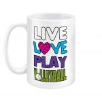 Live love play volleyball - 15oz Mug left