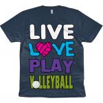Denim Blue - Live love play volleyball - EP01 Classic Jersey Men's/Unisex T-Shirt