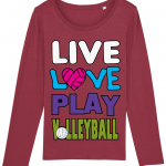Red - Live love play volleyball - Stella Singer