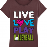 Burgundy - Live love play volleyball - Stella Expresser