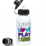 Live love play volleyball - 400ml Water Bottle left