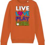Bright orange - Live love play volleyball - Mini Changer