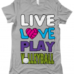 Athletic heather - Live love play volleyball - Bella The Favourite T-Shirt