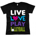 Black - Live love play volleyball - EP02 Classic Jersey Women's T-Shirt