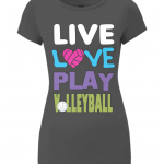 Black - Live love play volleyball - EP04 Women's Slim-Fit Jersey T-Shirt
