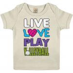 Ecru - Live love play volleyball - EPB01 Baby Lap T-shirt