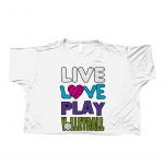 Black - Live love play volleyball - Bella Flowy Boxy T-Shirt