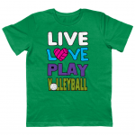 Kelly green - Live love play volleyball - EPJ01 Junior Classic Jersey T-Shirt