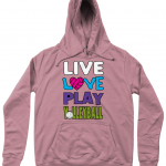 Dusty Pink - AWDis Girlie College Hoodie - Live love play volleyball