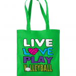 Kelly Green - Westford Mill Promo Shoulder Tote Bag - Live love play volleyball