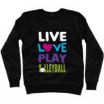 Black - Live Love Play Volleyball #1 - N62 Classic Unisex Sweatshirt