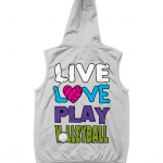 Heather Grey - Live Love Play Volleyball #1 - AWDis Unisex Sleeveless Zoodie