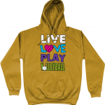 Mustard - Live Love Play Volleyball #1 - AWDis Unisex College Hoodie