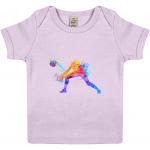 Powder Pink - Volleyball Digger - Colourful Woman - EPB01 Baby Lap T-shirt