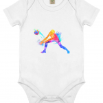 White - Volleyball Digger - Colourful Woman - EPB02 Babygrow