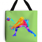 Lime green - Volleyball Digger – Colourful Woman #1 – Tote Bag