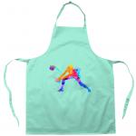 Aqua - Apron -Volleyball Digger - Colourful Woman