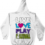 Artic white - Live Love Play Volleyball #1 - AWDis Unisex Zoodie