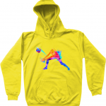 Sun Yellow - Volleyball Digger - Colourful Woman - AWDis Kids Hoodie