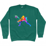Jade green - Volleyball Digger - Colourful Woman - AWDis Kids Sweatshirt