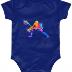 Navy - Volleyball Digger - Colourful Woman - Larkwood Essential Short Sleeve Baby Bodysuit