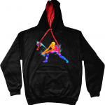 Jet Black / Fire Red - Volleyball Digger - Colourful Woman - AWDis Varsity Hoodie