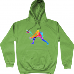 Alien green - Volleyball Digger - Colourful Woman - AWDis Unisex College Hoodie