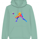 Mid heather green - Volleyball Digger - Colourful Woman - Cruiser Unisex Hoodie