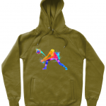 Khaki - Volleyball Digger - Colourful Woman - N50P Unisex Pullover Hoodie with Side Pockets
