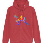 Red - Volleyball Digger - Colourful Woman - Connector Unisex Zoodie