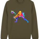 British khaki - Volleyball Digger - Colourful Woman - Changer Unisex Sweatshirt