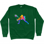 Bottle green -Volleyball Digger – Colourful Woman – AWDis Sweatshirt