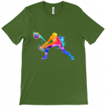 Military green - Volleyball Digger - Colourful Woman - Canvas Unisex Crew Neck T-Shirt