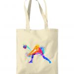 Natural - Volleyball Digger – Colourful Woman #1 - Westford Mill Promo Shoulder Tote Bag