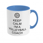 Cambridge blue - Keep Calm - Volleyball Coach #1 - Two Toned Mug Right side