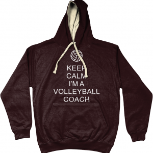 Keep Calm – Volleyball Coach #1 – AWDis Varsity Hoodie