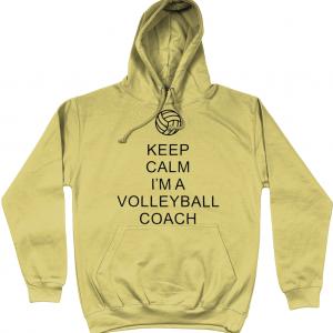 Keep Calm – Volleyball Coach #1 – AWDis Unisex College Hoodie